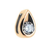 Золотая подвеска с бриллиантом ЛФП01-Д-БС-0131к