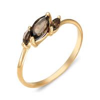 Золотое кольцо с раухтопазами ЮИК120-1883тр