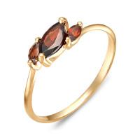 Золотое кольцо с гранатами ЮИК120-1883гр