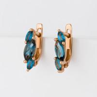 Золотые серьги с топазами ЮИС120-1883тл