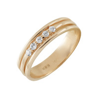 Золотое кольцо с бриллиантами КТЗК-90469