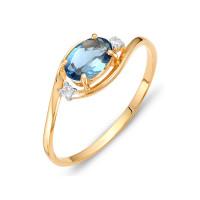 Золотое кольцо с топазами и фианитами ЮИК122-1520тл