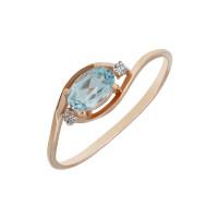 Золотое кольцо с топазами и фианитами ЮИК122-1520тг