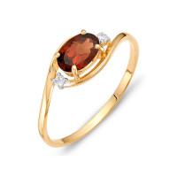 Золотое кольцо с гранатами и фианитами ЮИК122-1520гр
