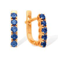 Золотые серьги с топазами ЮИС120-1515тл