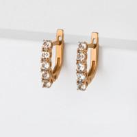 Золотые серьги с топазами ЮИС120-1515тг