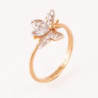Золотое кольцо с фианитами АБ1201363Р