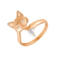 Золотое кольцо с фианитами АБ1201368Р