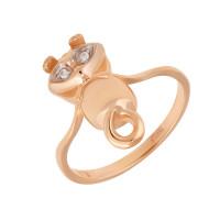Золотое кольцо с фианитами АБ1201389Р