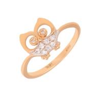 Золотое кольцо с фианитами АБ1201383Р