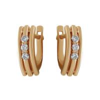 Золотые серьги с бриллиантами КТЗС-90470