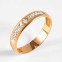 Золотое кольцо обручальное с бриллиантами МИ6010019