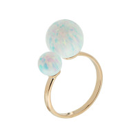Золотое кольцо с опалами РЫ1021635