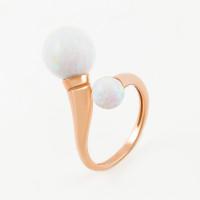 Золотое кольцо с опалами РЫ1021435