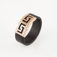 Золотое кольцо с каучуком НР03400Ш мужское