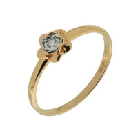 Золотое кольцо с бриллиантом КРК3213140/9