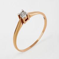 Золотое кольцо с бриллиантом КРК3212771/9