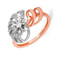Золотое кольцо с бриллиантами 9к11-0338