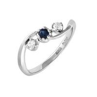 Золотое кольцо с бриллиантами 9К1-1001