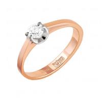 Золотое кольцо с бриллиантом 9К1-0048