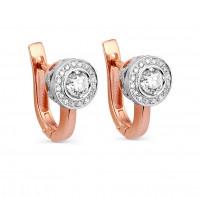Золотые серьги с бриллиантами 9К12-0392