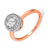 Золотое кольцо с бриллиантами 9К11-0392