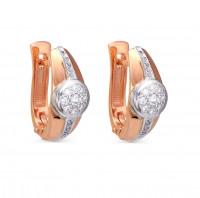 Золотые серьги с бриллиантами 9К12-0463