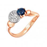 Золотое кольцо с изумрудом и бриллиантами 9К11-0341