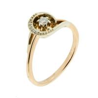 Золотое кольцо с бриллиантами РГ1782