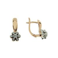 Золотые серьги с бриллиантами ЗСС18010002