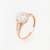 Золотое кольцо с сваровски и фианитами ЮПК1325157