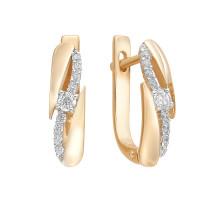 Золотые серьги с фианитами ЮИС132-2726