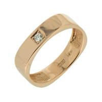 Золотое кольцо обручальное с бриллиантом 7Ю04-01-0028