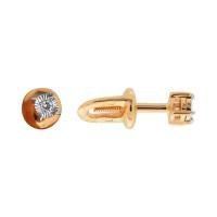 Золотые серьги гвоздики с бриллиантами ВК2-084ЗД