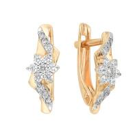 Золотые серьги с фианитами ЮИС132-2473