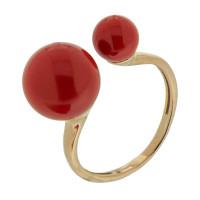 Золотое кольцо с кораллами РЫ1021537