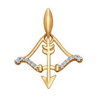 Золотой знак зодиака «стрелец» ДИ034722