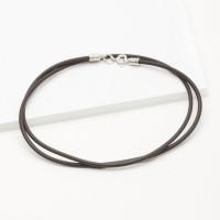 Каучуковый шнурок с серебряной вставкой 8ФКО002Р мужская