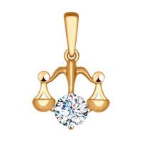 Золотой знак зодиака «весы» ДИ034958