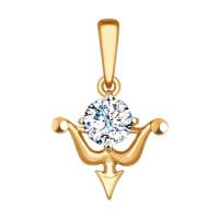 Золотой знак зодиака «стрелец» ДИ034959