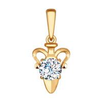 Золотой знак зодиака «водолей»