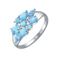 Серебряное кольцо с топазами ДИ92011103