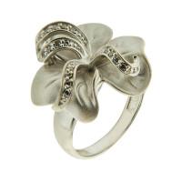 Серебряное кольцо с фианитами и сваровски 9К11-029-7900С