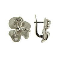 Серебряные серьги с фианитами и сваровски 9К12-029-7900С
