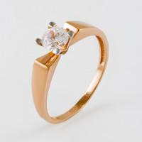 Золотое кольцо с фианитами СН01-115279