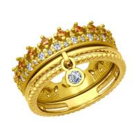 Серебряное кольцо с фианитами ДИ93010705