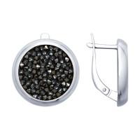 Серебряные серьги с сваровски ДИ94022680