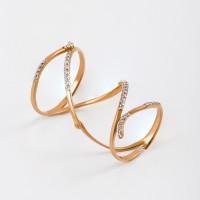 Золотое кольцо с фианитами ЮПК1324545
