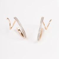 Золотые серьги с фианитами СН01-215090