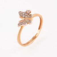 Золотое кольцо с фианитами АБ1201367Р